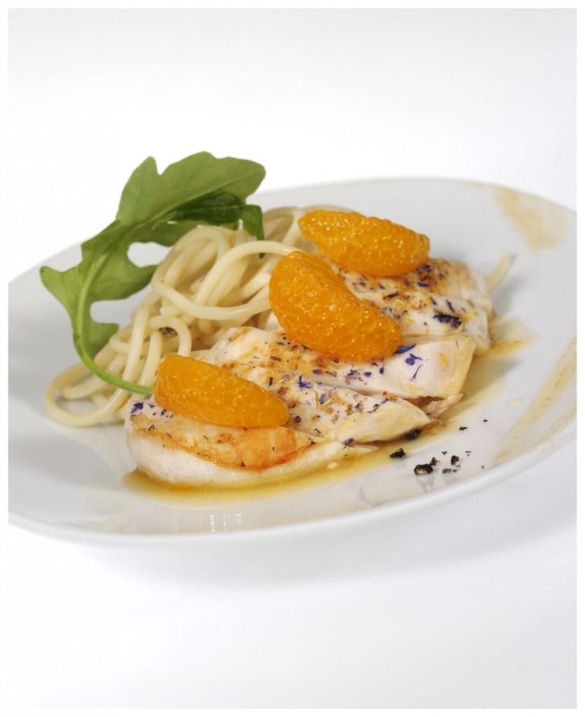 1.1 pollo a la mandarina
